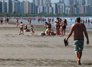 Especialistas indicam que reabertura das praias no litoral paulista aumentou casos da Covid-19