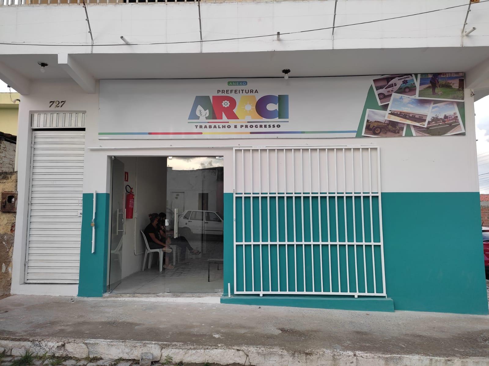 Prefeitura de Araci anuncia funcionamento de novo anexo para atendimento
