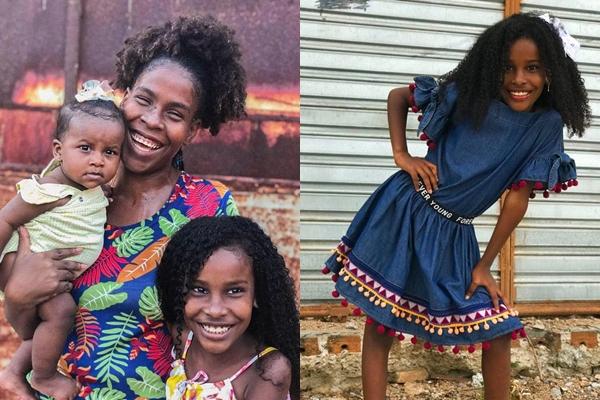 Sonho de ser modelo: Criança araciense de oito anos pede ajuda para iniciar trabalhos na carreira