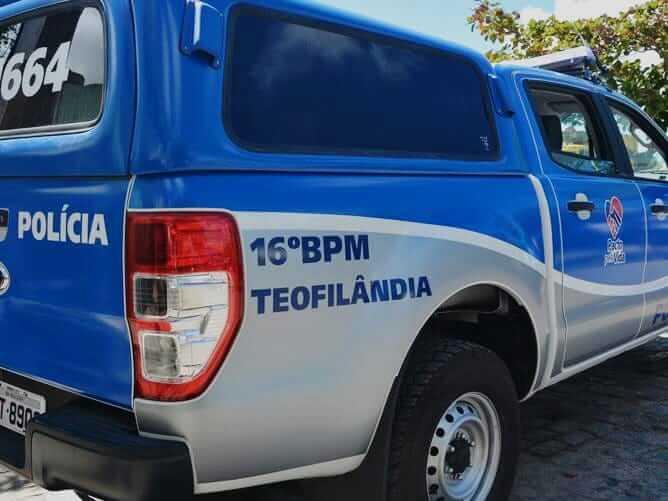 Policial militar e homem em possível surto psicótico são baleados durante ocorrência em Teofilândia