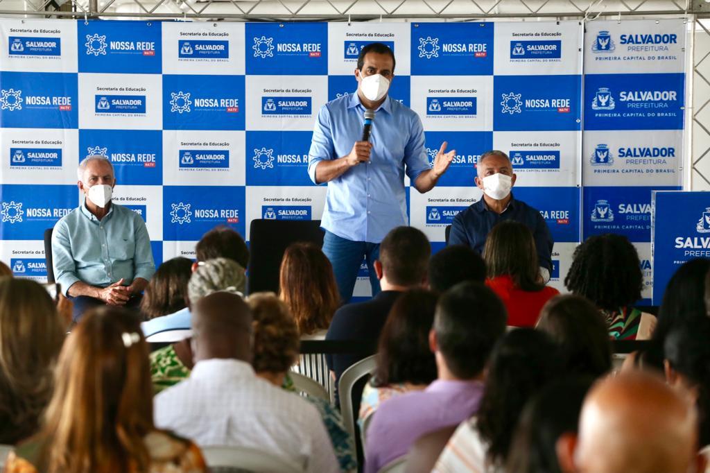 Bruno diz que fim da obrigatoriedade das máscaras em Salvador somente se dará com 100% da população vacinada
